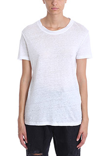 Iro-Luciana white cotton and linen t-shirt