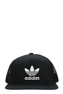 Adidas-Cappello Trefoil Trucker in cotone nero