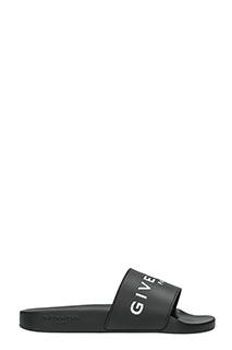 Givenchy-Sandali Slide Logo  in gomma nera
