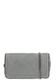 Stella McCartney-Clutch Falabella Cross Body in shaggy deer grigio