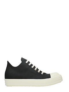 Rick Owens DRKSHDW-Sneakers Low in canvas nero