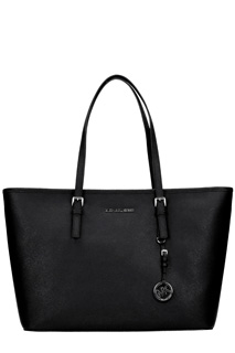 Michael Kors-Borsa Jet Set Travel Tote in pelle nera