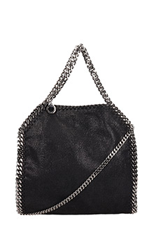 Stella McCartney-Borsa Falabella Mini Tote in shaggy deer nero