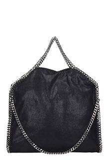 Stella McCartney-Borsa Falabella Tote Fold Over in shaggy deer nero