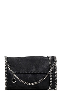 Stella McCartney-Borsa Falabella Crossbody  in shaggy deer antracite