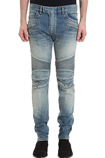Balmain-Jeans Biker in denim blue