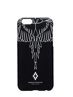 Marcelo Burlon-Cover Case Toluca IPhone 6 in plastica nera
