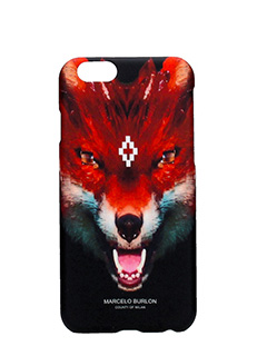 Marcelo Burlon-Cover Case Puntarenas IPhone 6 in plastica nera
