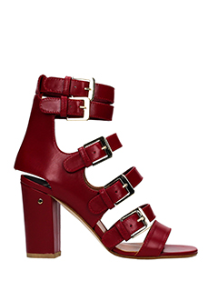 Laurence Dacade-dana red leather sandals