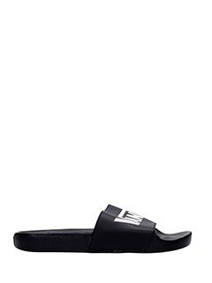 Vans-Sandali Slide On logo in gomma nera