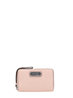 Marc by Marc Jacobs-Portafogli New Q Wingman in pelle rosa