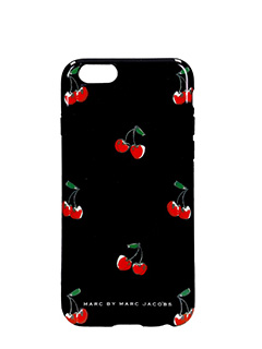 Marc by Marc Jacobs-Cover Case IPhone 6 in pvc nero stampa ciliegie