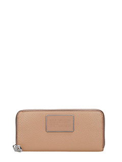 Marc by Marc Jacobs-slim zip around powder leather wallet