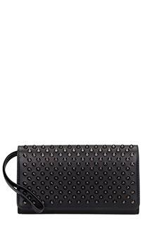 Christian Louboutin-Macaron wallet black leather wallet