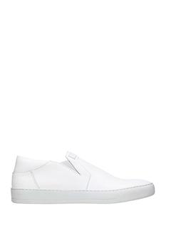 Helmut Lang-Sneakers Slip On  in pelle bianca