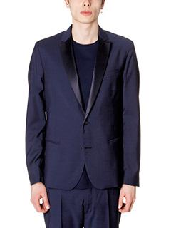 Low Brand-Giacca Blazer in fresco lana blue