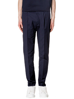 Low Brand-Pantaloni Techno in cotone blue