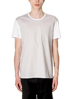 Low Brand-T-Shirt B33 in cotone grigio bianco