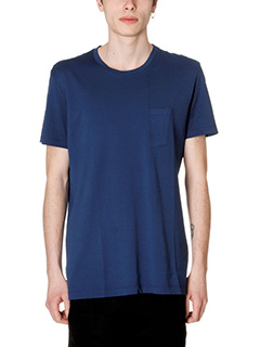 Low Brand-T-Shirt B2 in cotone azzurro