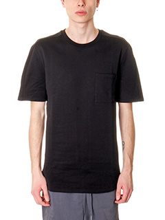 Helmut Lang-T-Shirt Felpa Pocket SS Brush in cotone nero