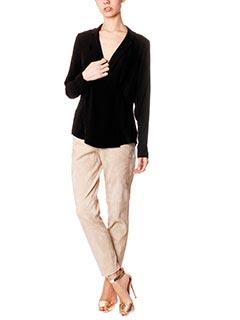 Theory-Pantaloni Thaniel in camoscio beige