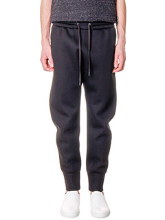 Helmut Lang-Pantaloni Curuded in cotone nero