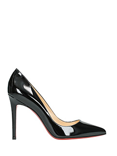Christian Louboutin-pigalle 100 black leather pumps