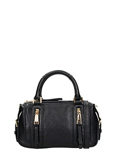 Michael Kors-Borsa Small Satchel in pelle nera