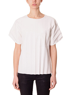 Alexander Wang-white leather t-shirt