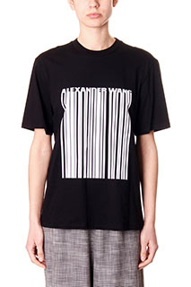 Alexander Wang-black cotton t-shirt