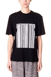 Alexander Wang-T-Shirt Barcode in cotone nero