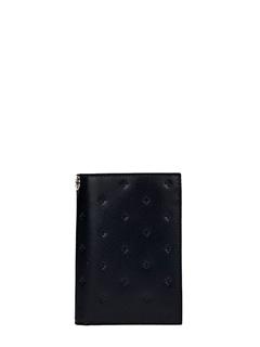 Givenchy-Portafoglio in pelle nera Croci