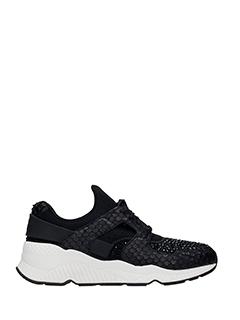 Ash-Sneakers Mood in pelle nera