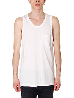 T by Alexander Wang-Tanktop Classic in cotone bianco