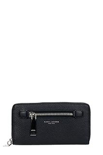 Marc Jacobs-Portafoglio Gotham Continental Wallet in pelle nera