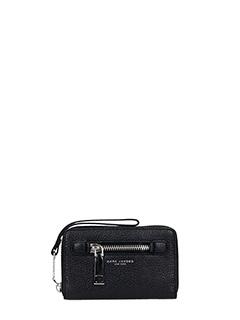 Marc Jacobs-Portafoglio Gotham City Flap Tri Fold Wallet in pelle nera