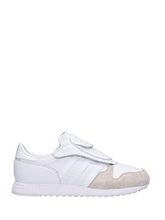 Adidas-Sneakers Aoh-006 in pelle e camoscio  bianco