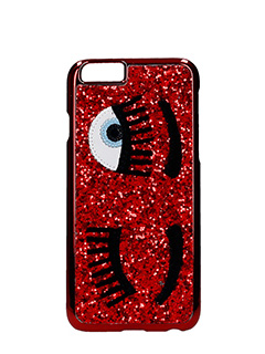 Chiara Ferragni-Cover IPhone 6 Flirting Glitter rossi