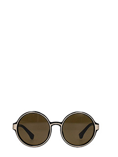 Linda Farrow-Dries Van Noten 76 black PVC sunglasses