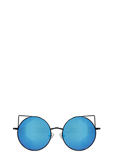 Linda Farrow-Metthew William blue PVC sunglasses