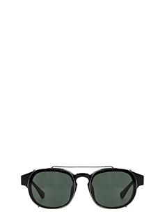 Linda Farrow-Occhiali da Sole By Dries Van Note 80 C1  in acetato nero ed acciaio