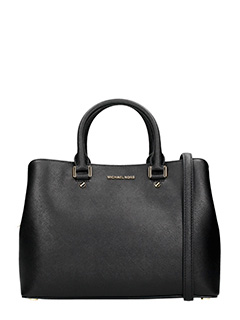 Michael Kors-Borsa Savannah Large in pelle saffiano nero