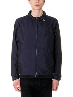 Valentino-Giacca Jacket Zip in tessuto tecnico blue