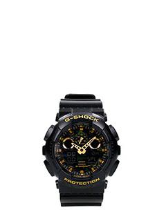 Casio-Orologio G-Shock GA-100CF 1A9R in resina nera mility