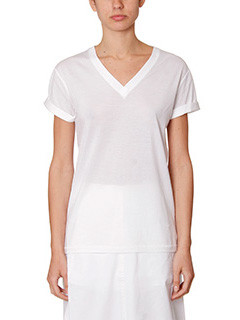 T by Alexander Wang-T-Shirt in jersey bianco