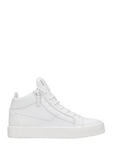 Giuseppe Zanotti-Sneakers Mid in pelle bianca