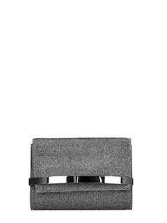 Jimmy Choo-Bow Lai silver tissue clutch