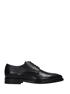 Lanvin-Stringate Derby in pelle nera