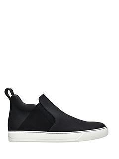 Lanvin-Sneakers Chelsea Slip On in pelle nera