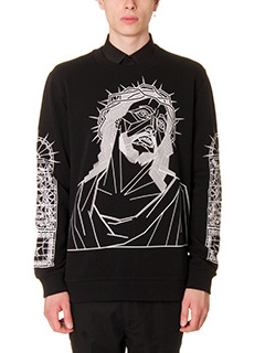 Givenchy-Felpa Jesus Face in cotone nero